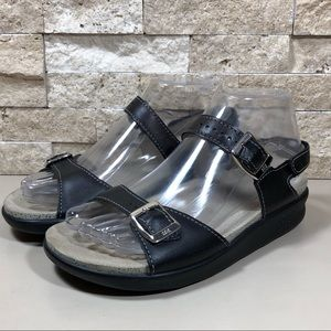 SAS Sandals Women's Black Wide Leather Comfort